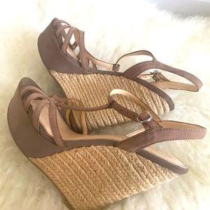 Jessica Simpson tan wedges, women's , size 7.5